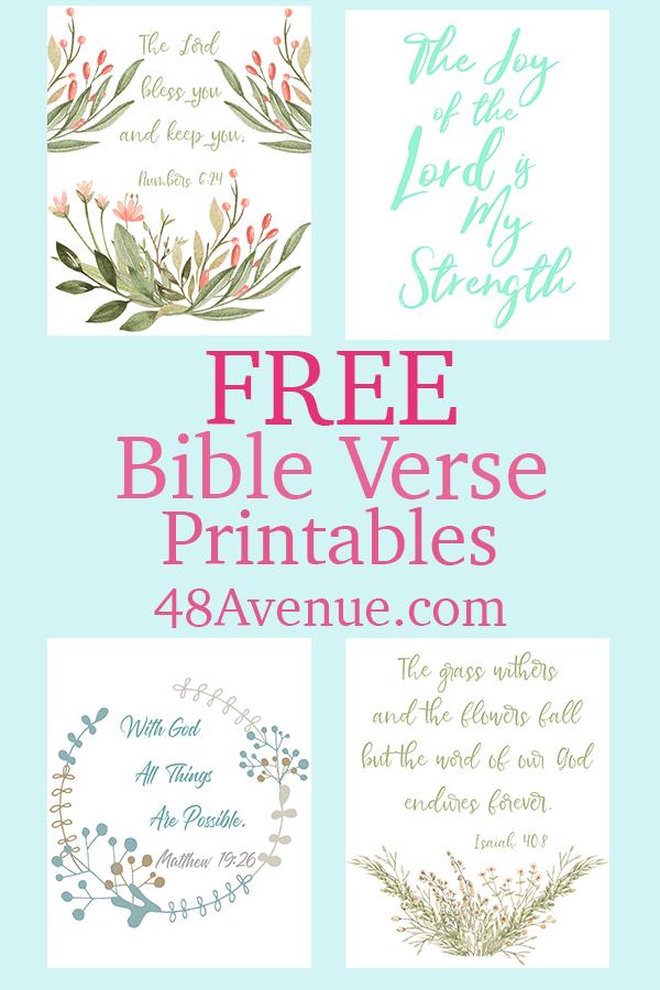 FREE Bible Verse Printables - 48 Avenue